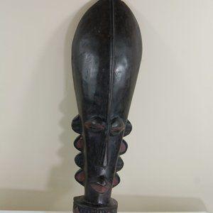 Ghana African Pedestal Male Mask Decoration